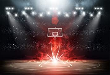 Amazon Com Aofoto 8x6ft Night Basketball Court Backdrop