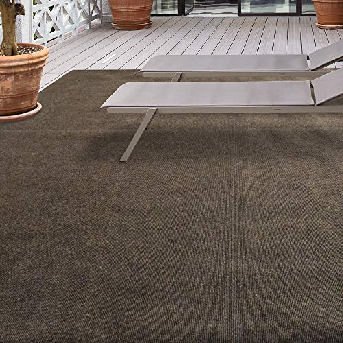 iCustomRug Affordable Indoor/Outdoor Carpet with Marine Backing, Many 12' x 10' Carpet Flooring for Patio, Porch, Deck, Boat, Basement or Garage ()