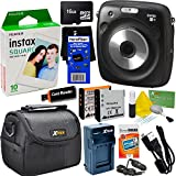 Fujifilm Instax Square SQ10 Hybrid Instant Camera + Fujifilm Instax Square Instant Film (10 Sheets) + 16GB Memory Card + Camera Case + 8pc Accessory Kit w/ HeroFiber Ultra Gentle Cleaning Cloth