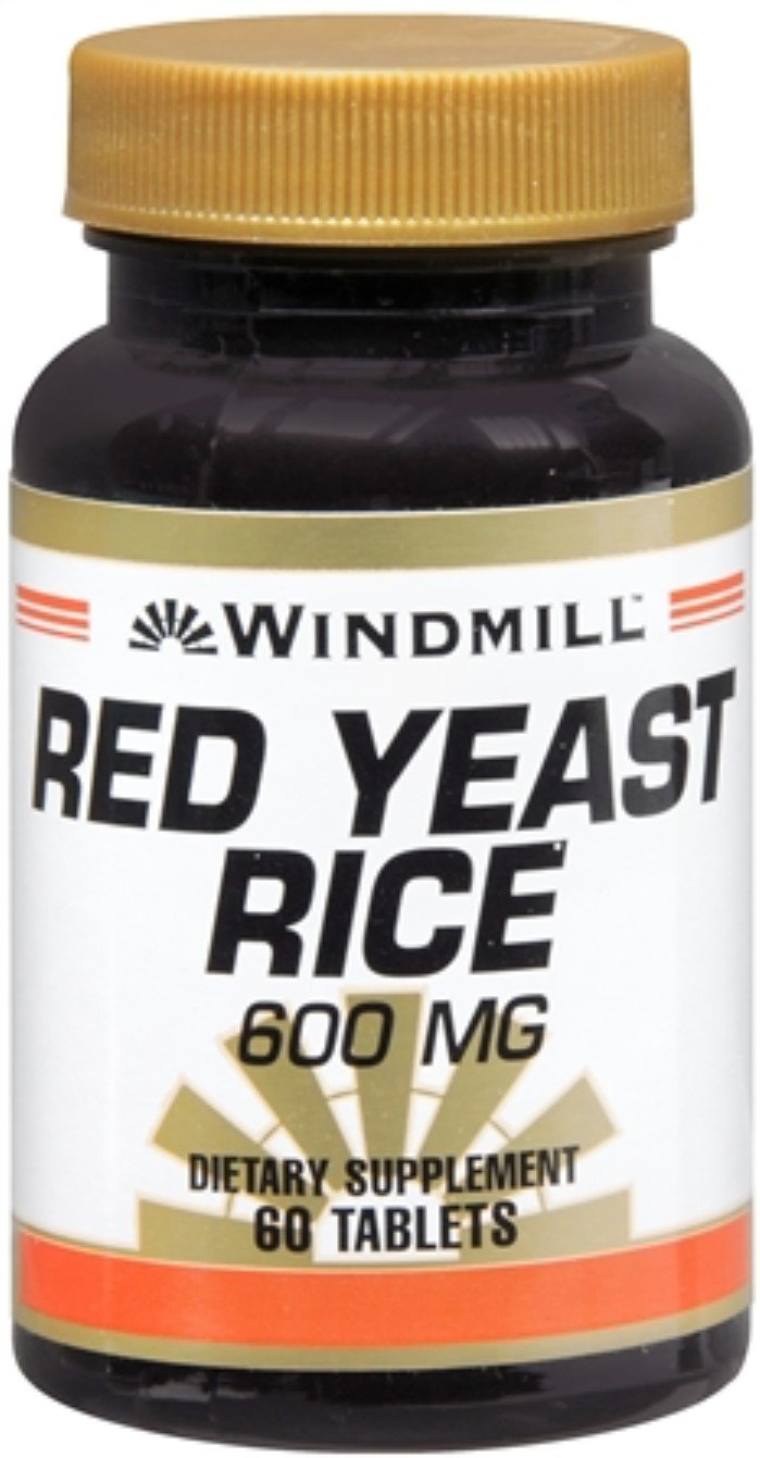 Windmill Red Yeast Rice 600 mg Tablets 60 Tablets (Pack of 5)