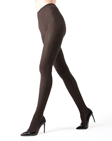 13667f4b66864 Portland Side Cable Sweater Tights Brown Heather Small / Medium