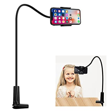 best website 0be99 27d3a FUTESJ Flexible Gooseneck Cell Phone Stand Holder, Adjustable Long Lazy Arm  Clip Clamp Phone Mount iPhone 6 6s 7 8 X Plus 5 5s 5c charging, ...