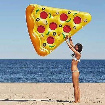 sdbcv Estilismo peluca Surose inflable pizza flotador de la ...
