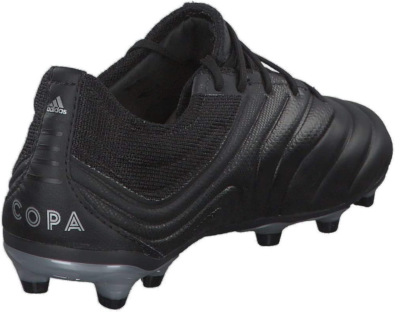 adidas Copa 19.1 FG Enfant, Chaussure de Foot, Core Black-Hi Red-Silver Metallic Core Black Hi Red Silver Metallic