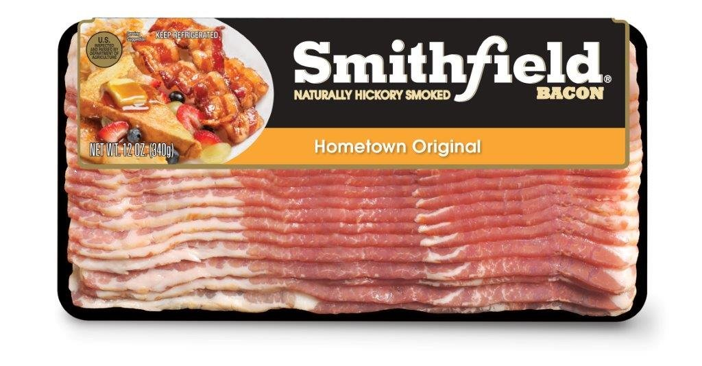 Smithfield, Hometown Original Ready to Cook Naturally Hickory Smoked Bacon, 12 oz