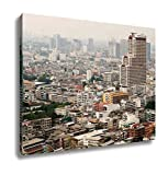 Ashley Canvas, Bangkok City View Bangkok Cityscape Business District With High Building At, Home Decoration Office, Ready to Hang, 20x25, AG5874277