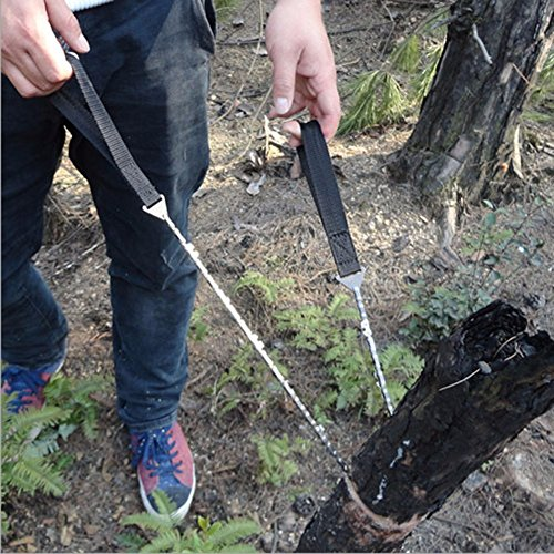 "Pocket Chainsaw 36"" Survival Gear for Camping, Hunting Best Hand Saw Tool"