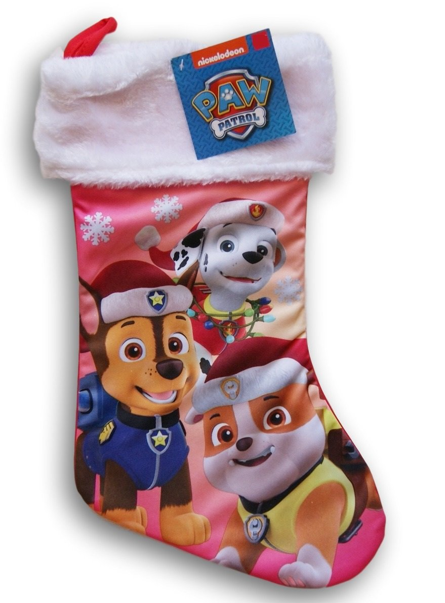 Nickelodeon Paw Patrol Silky Christmas Stocking - 16'' x 9''