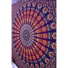 Montreal Tapessier Multi colors mandala QUEEN SIZE Hippie Tapestry, Hippy Mandala Bohemian Tapestries, Indian Dorm Decor, Psychedelic Tapestry Wall Hanging Ethnic Decorative (Multi Color)