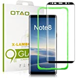 Galaxy Note 8 Tempered Glass Screen Protector (Full Screen Coverage), [Tray Installation] OTAO Double Strong 3D Curved Screen Protector for Samsung Galaxy Note 8