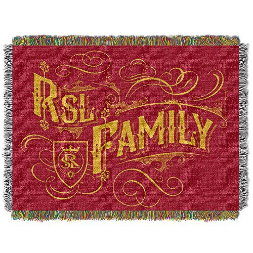 MLS Real Salt Lake Handmade Woven Tapestry Throw, 48