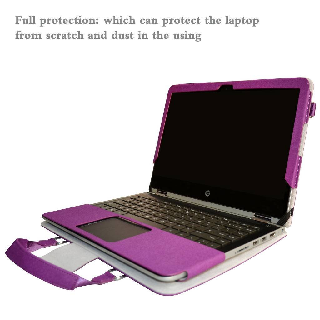 Yoga 520 Funda,2 in 1 Diseñado Especialmente La Funda Protectora de Cuero de PU + la Bolsa portátil para 14