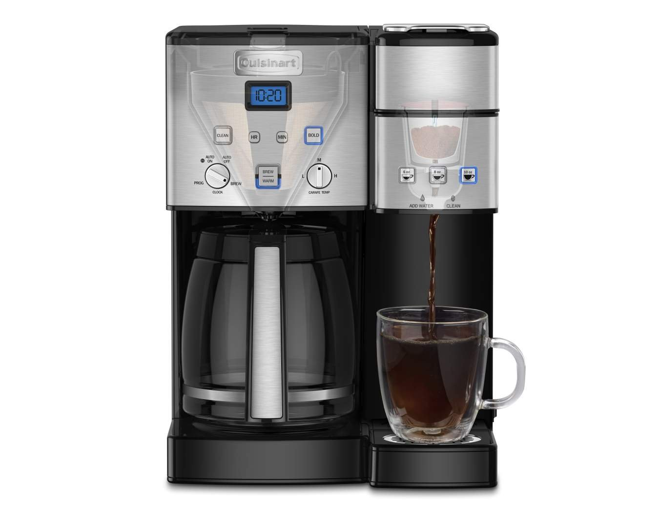 Amazon.com: Cuisinart SS-15 12-Cup Coffee Maker and Single-Serve Brewer,  Stainless Steel: Kitchen & Dining
