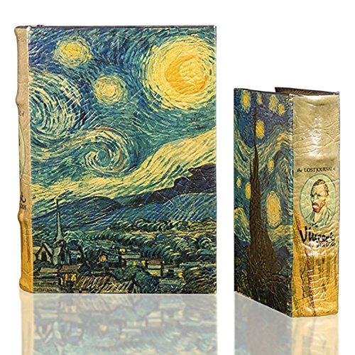 Starry Night by Vincent Van Gogh Book Box Set Comes with two book boxes Large and Small (Coffee Boxes Table Decorative)