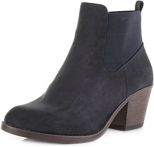 navy suede ankle boots uk