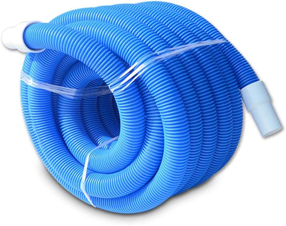 Manguera de vacío para piscina para trabajos pesados en el suelo con manguito giratorio, tubo de aspiración, manguera de succión, tubo auto-flotante roscado azul, herramienta de limpieza de piscina: Amazon.es: Hogar