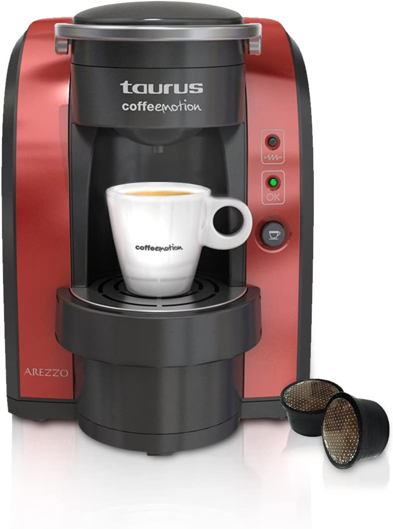 Taurus Arezzo, Negro, Rojo, 1150 W, 220 - Máquina de café: Amazon.es: Hogar