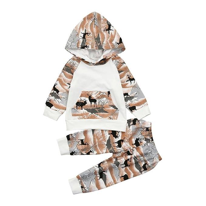 a40530573 AIMEE7 Ropa Bebe niño otoño Invierno Infantil Recien Nacido Bebé Niño Tapas  encapuchadas Manga Larga Camisetas Blusas + Pantalones Largos Conjuntos de  Ropa: ...