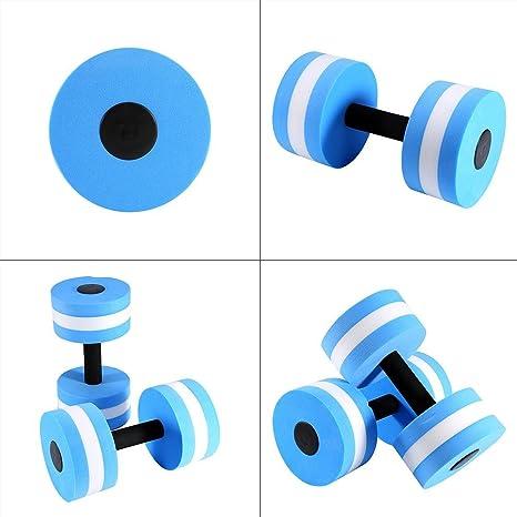 Dilwe 1 par de mancuernas de aeróbico acuáticas, EVA, para ejercicios de natación: Amazon.es: Deportes y aire libre
