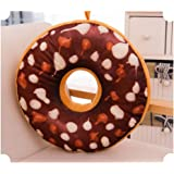 Cuscino a forma di ciambella, regalo di compleanno, Cotone, Brown, 40 cm