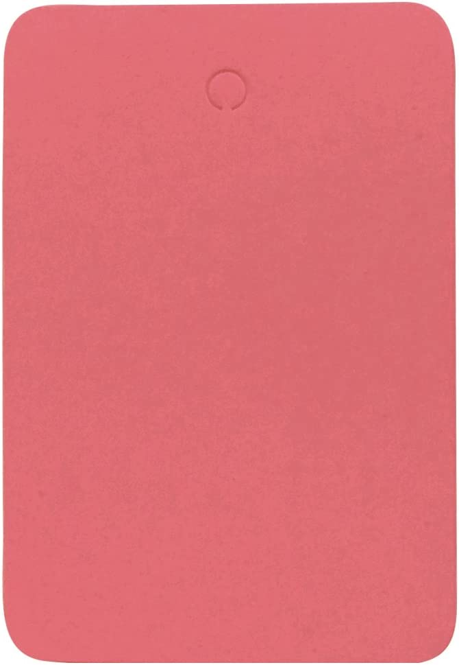 Amram Coupon Tags 1.25 Inch x 1.875 Inch Unstrung Blank Pink Non Perforated 1000 Tags