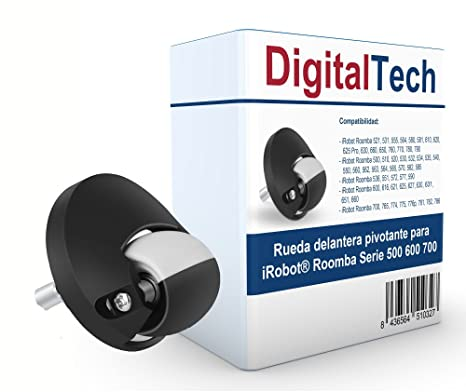 DigitalTech® - Rueda delantera pivotante para iRobot Roomba Serie 500 600 700