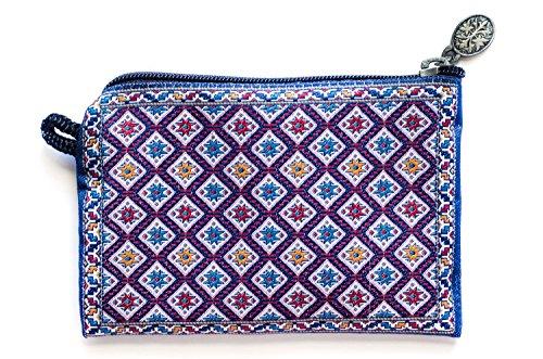 Oriental Carpet Woven Coin Change Purse- Bergama Collection (Coin Purse Woven Bag Zipper)