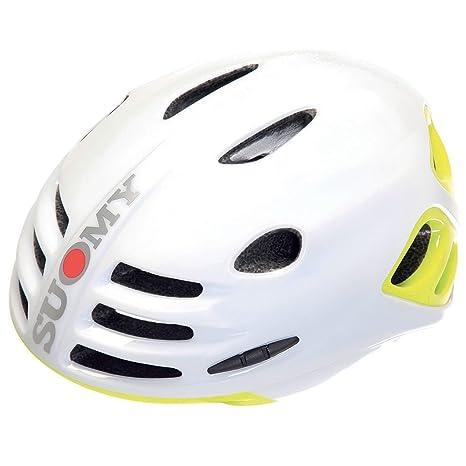 SUOMY Casco Bicicleta Bola Blanco/Amarillo Neón Brillante Talla L ...