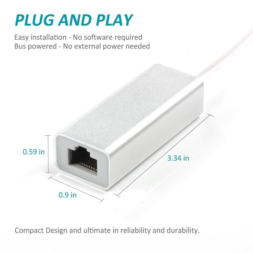 Required iOS10.0 or Up Lightning to RJ45 Ethernet LAN Wired Network Adapter Play /& Play 10//100Mbps Wired Network Adaptor for iPhone//iPad silver Jiqu Lightning Ethernet Adapter