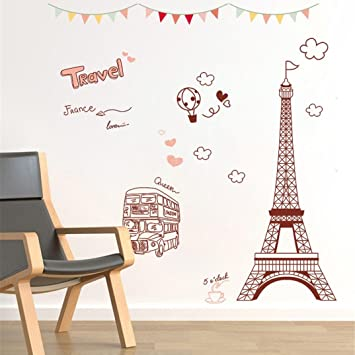 3fb78722dd Image Unavailable. Image not available for. Color: YJYDADA Wall Stickers,3D  DIY Tower Family Home Wall Sticker Removable Mural Decals Room Decor