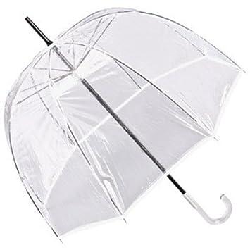 Jean Paul Gaultier de lujo damas diseñador de paraguas transparente mirada, con un borde blanco - Alquiler de White Edition: Amazon.es: Equipaje