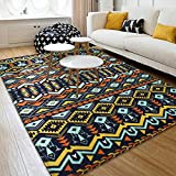 Mediterranean Sea Geometry Home Rugs - MeMoreCool Seven Patterns No Fading Anti-slipping Coral Fleece Living Room Tea Table Carpets 79 X 94 Inch