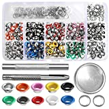 Grommet Kit Metal 3/16 Inch, Outee 400 Pcs Metal Eyelets Kits Multi-Color Shoe Eyelets Grommet Sets Grommet Metal Kits Eyelets Grommet with Storage Box for Shoes Clothes Crafts