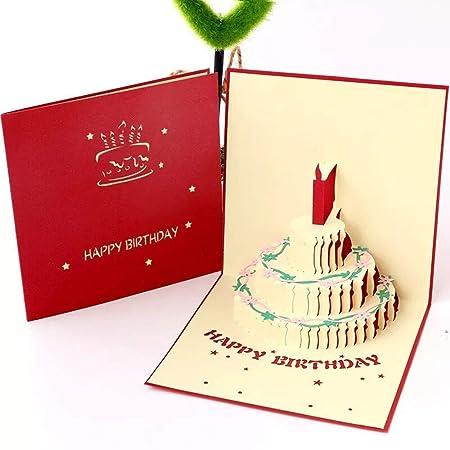 Tarjeta de Cumpleaños 3D,Tarjetas de felicitación Cumpleaños ...
