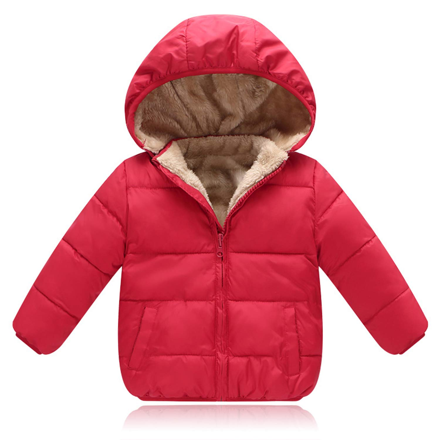Processes Children Outerwear Coat Winter Boys Girls Leisure Sport Jackets Infant Warm Baby Parkas Thicken Kids Hooded Clothes