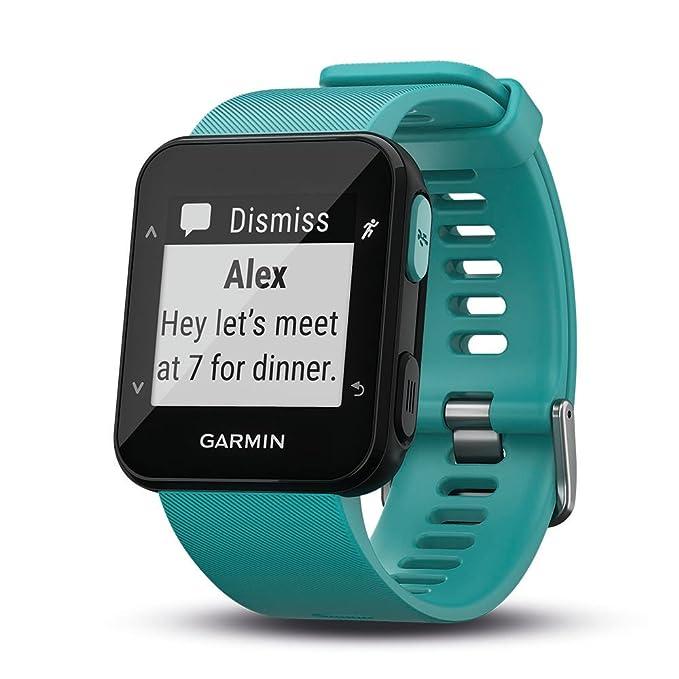 Garmin Forerunner 30 - Reloj de carrera con GPS y sensor de frecuencia cardiaca en la muñeca
