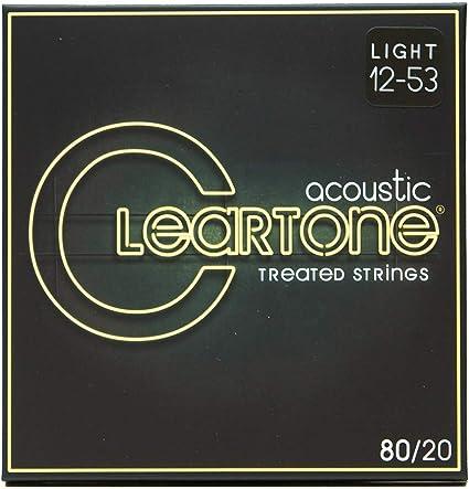 Cleartone 7612 - Cuerdas de guitarra acústica, calibre 12-53 ...