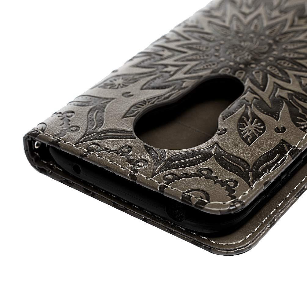 G7 Play Handyh/ülle Kompatible f/ür Motorola Moto G7 Play H/ülle Wallet Case Cover PU Leder Tasche Mandalas Muster Flipcase Schutzh/ülle Handytasche Skin St/änder Klapph/ülle Schale Bumper Magnet-Roserot