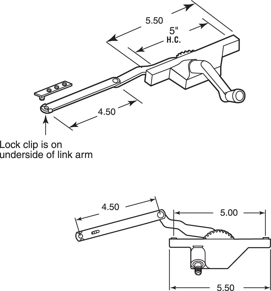Prime-Line Products TH 23091 Dyad Operator with Stud Bracket, Left Hand, White by PRIME-LINE (Image #2)