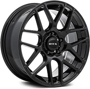 56.6mm Hub Black 18 x 8 38 Offset 5x105 Bolt Pattern RTX Envy Сustom Wheel