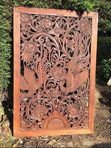 Indonesian teak wall art.: Amazon.co.uk: Handmade