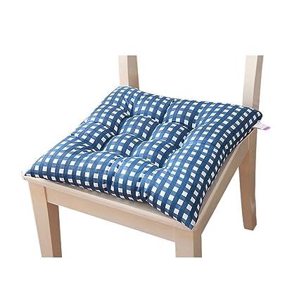 Fundas coloridas de asiento para silla de cocina, cojines con lazos ...