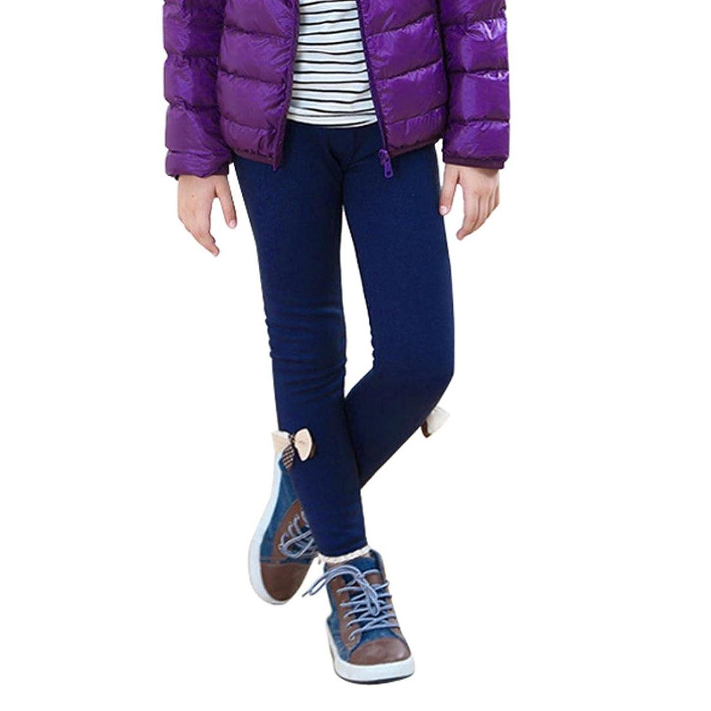 1- 5 Age Fille Enfant Legging Velours HIver Collants Fille Pantalon Thermique en Denim Cotton