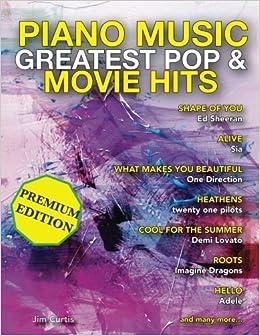 Piano Music Greatest Pop & Movie Hits: Piano Sheet Music - Big Note Piano (Volume 1)