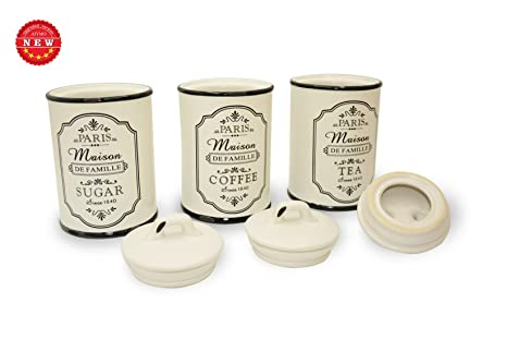 Tè, caffè e zucchero (New design) 3 pezzi, barattolo per alimenti ...