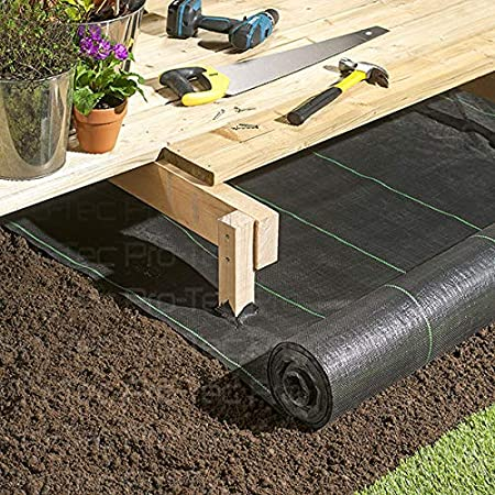 Pro-Tec 2m x 30m Heavy Duty 100g Weed Control Membrane Ground Cover Landscape Fabric 50 FREE PEGS