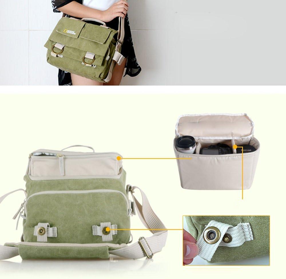 SYAODU BackPack DSLR//SLR Digital Camera Bag Shoulder Bag Mens Messenger Bags 14 Inches Vintage Military Canvas Laptop Bag for Canon//Sony//Nikon Camera with Rain cover (Army Green