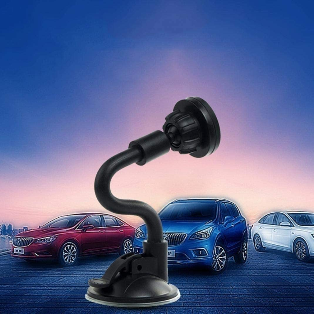 Black Grebest Magnetic Phone Holder Interior Decoration Phone Holder Universal Long Arm Magnetic Phone Holder Adjustable Car Windshield Mount Stand