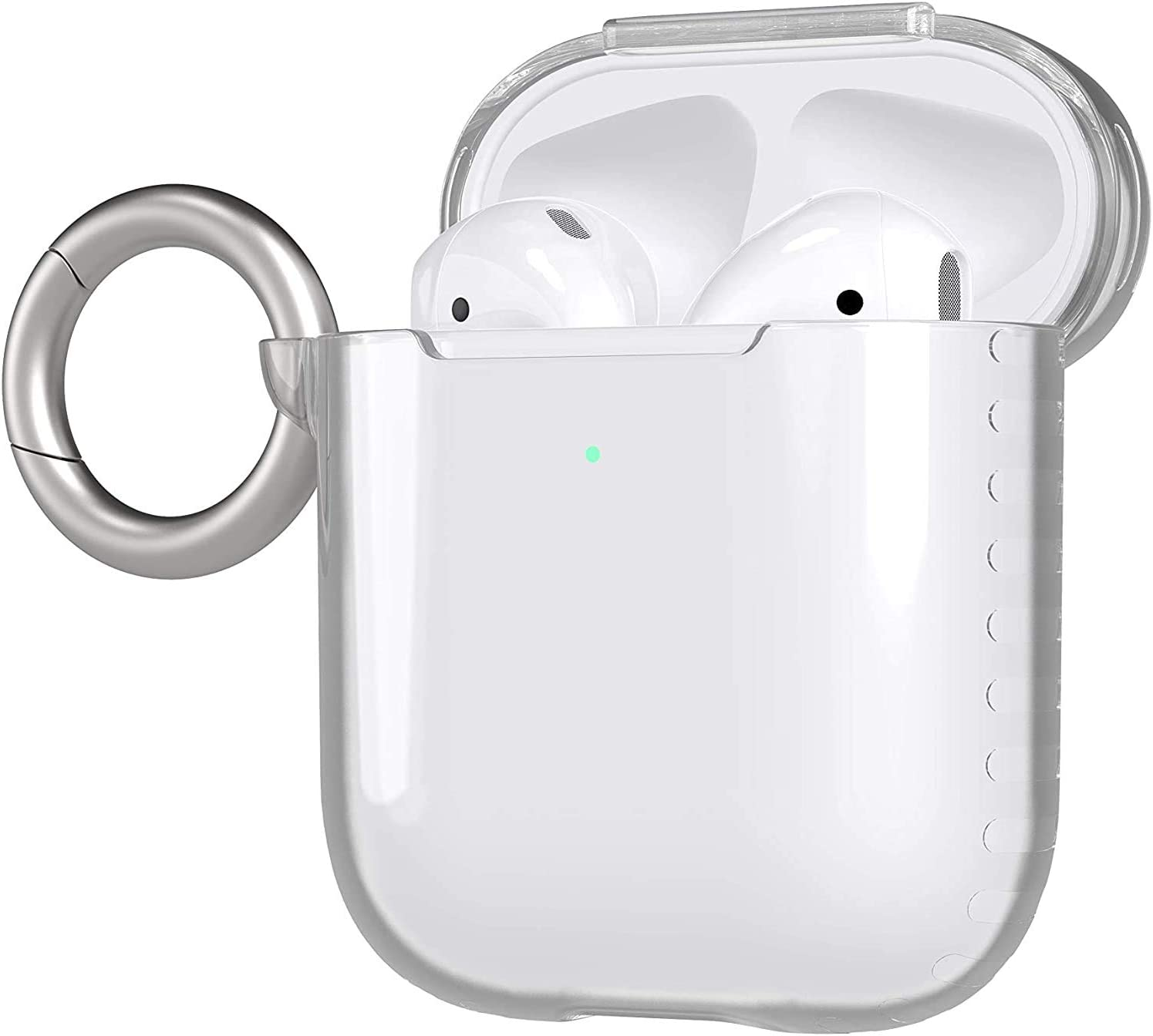 tech21 Pure Clear for Apple AirPod 1st and 2nd Gen - Plant-Based Case with Germ Fighting Antimicrobial Properties and 12 ft Drop Protection (T21-8197)