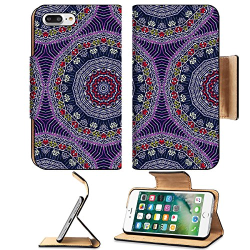 Luxlady Premium Apple iPhone 7 Plus Flip Pu Leather Wallet Case iPhone7 Plus 34428299 Background pattern made from traditional thai sarong pattern (Asian National Costumes Pictures)